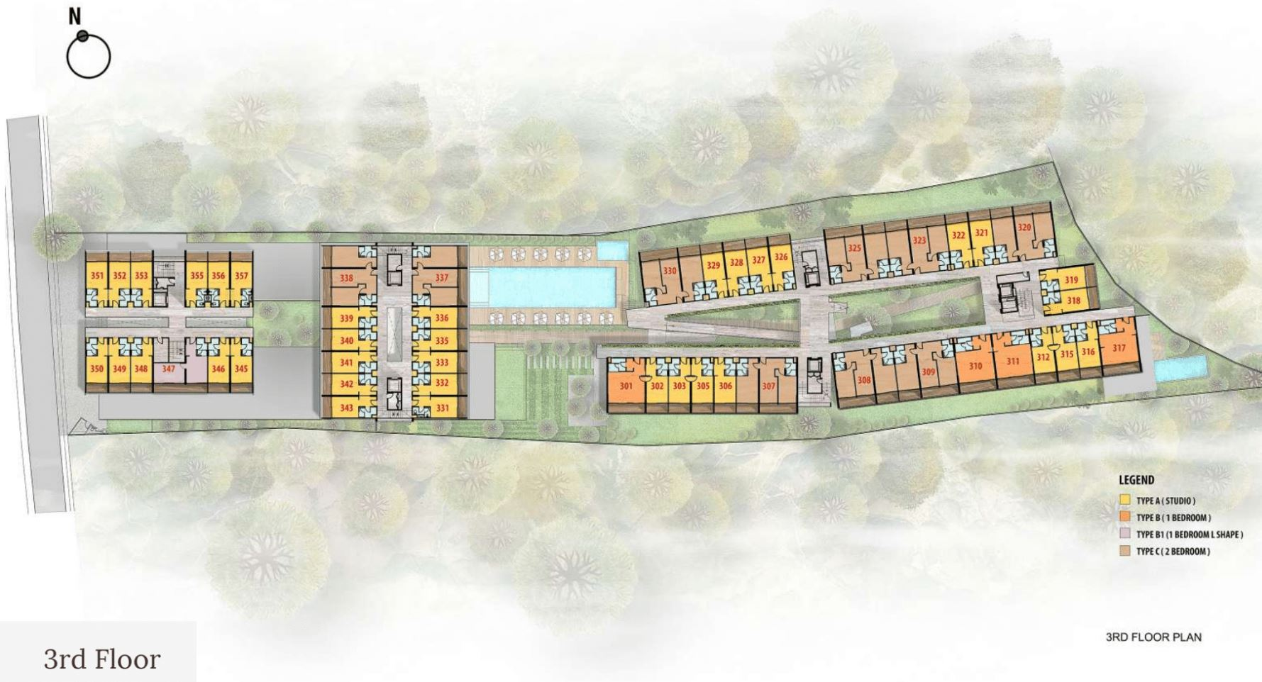 Citadines Berawa Beach Bali Site Plan 3rd Floor