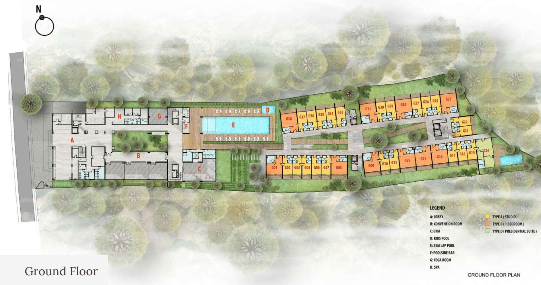 Citadines Berawa Beach Bali Site Plan Ground Floor